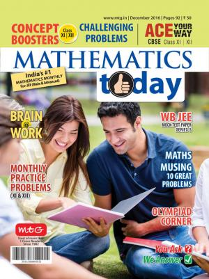 Mathematics Today- December 2016