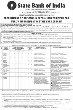 SBI SO Recruitment for 103 Posts, Graduates can apply at sbi.co.in  - Read on ipad, iphone, smart phone and tablets.