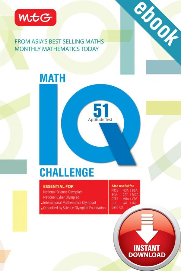 Math IQ Challenge e-book in English by MTG Learning Media