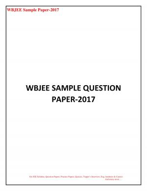 WBJEE SAMPLE QUESTION PAPER
