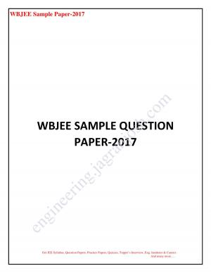 WBJEE SAMPLE QUESTION PAPER_new