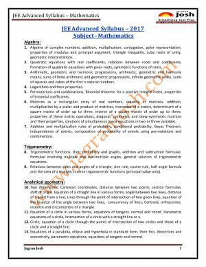 JEE-Advanced-2017-Syllabus-Mathematics