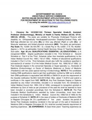 UPSC Recruitment 2016 for 63 Assistant Professor, Assistant Legislative Counsel & Other posts