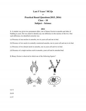 cbse class 10 science last five years' multiple choice questions