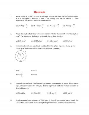 JEE Main Solved Physics Sample Paper Set-IX Question Paper
