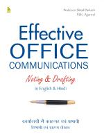 Effective Office Communications Noting And Drafting