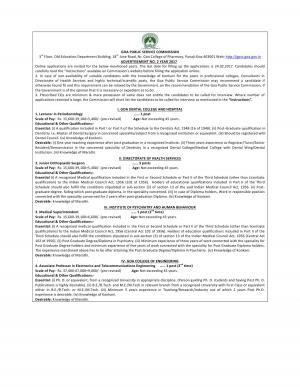 Goa PSC Recruitment 2017 for 6 Junior Orthopaedic Surgeon, Lecturer & Other Posts