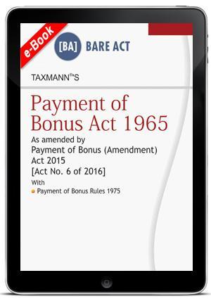 Payment of Bonus Act 1965