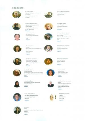 List of Distinguished Speakers