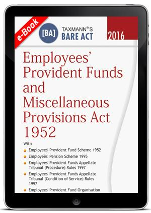 Employees provident Funds and Miscellaneous Provisions Act 1952