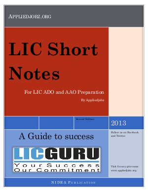 LIC Short Note - Read on ipad, iphone, smart phone and tablets.