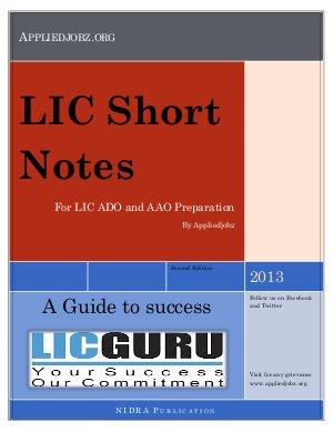 LIC Short Note