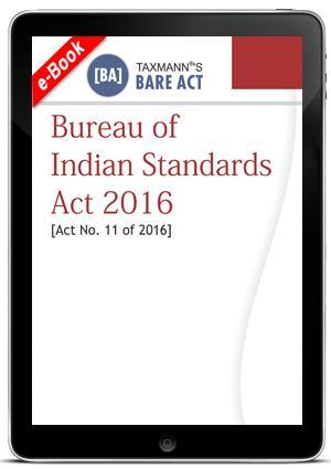 Bureau of Indian Standards Act 2016
