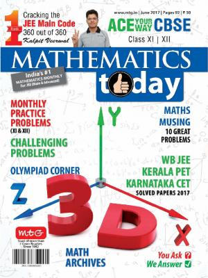 Mathematics Today- June 2017 - Read on ipad, iphone, smart phone and tablets.