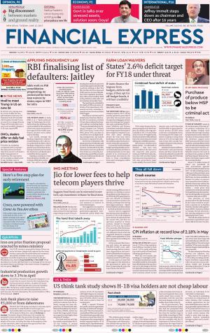 Financial Express Delhi, Tue, 13 Jun 17