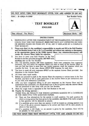 CDS (I) 2014 Exam English Question Paper