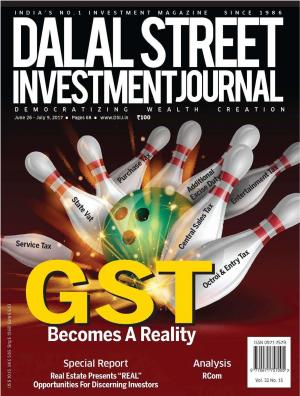 Dalal Street Investment Journal, Volume 32 Issue no 15, June 26, 2017