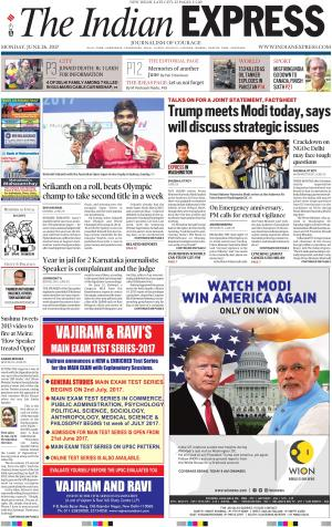 Newspaper todays news headlines in english