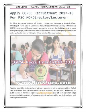 CGPSC Result  - Read on ipad, iphone, smart phone and tablets.