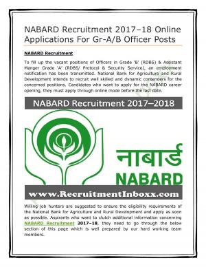 NABARD Recruitment - Read on ipad, iphone, smart phone and tablets.
