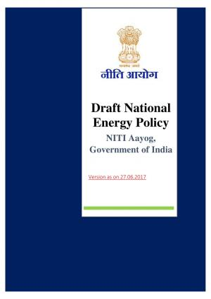 Draft National Energy Policy by NITI Aayog