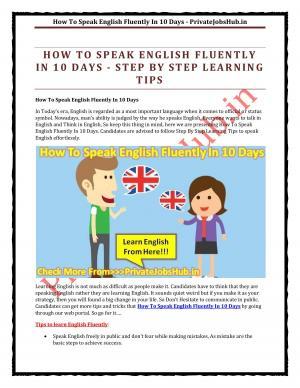 How To Speak English Fluently In 10 Days