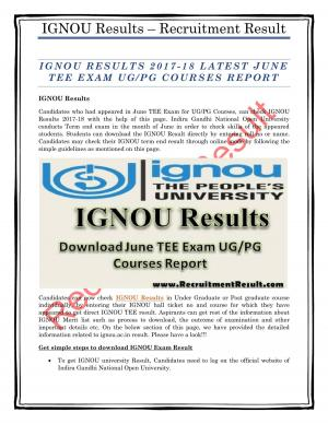 IGNOU Results