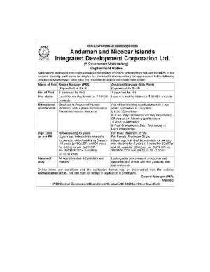 NIC, Andaman & Nicobar Island Recruitment 2017 for 02 Managerial Posts