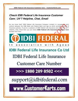 IDBI Federal Life  Insurance Customer Care