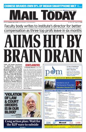 Mail Today issue July 31, 2017