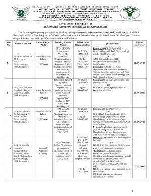 ICAR-IIHR Recruitment 2017 for 26 SRF, JRF, RA & Other Posts