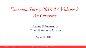 Economic Survey 2016 - 17 Volume 2 (An Overview)