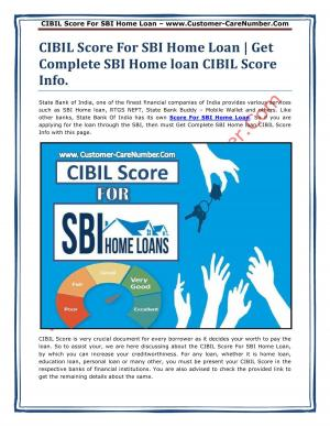 CIBIL Score Required For SBI Home Loan