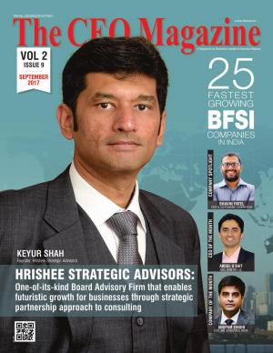 The CEO Magazine, 25 Fastest Growing BFSI companies in india September 2017