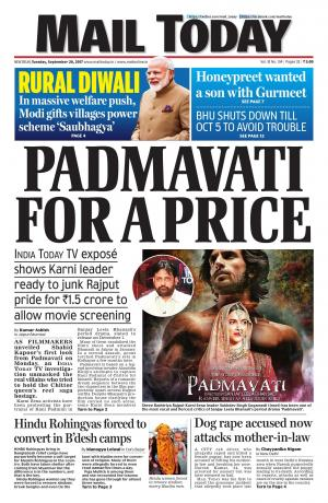 Mail Today issue, September 26, 2017