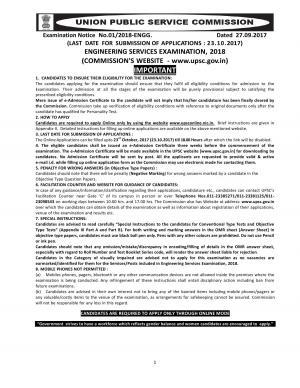 UPSC Engineering Services Examination 2018, Get Sarkari Naukri as Engineer, Apply at upsc.gov.in