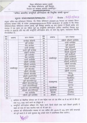 District Project Management Unit Jamshedpur recruitment 2017