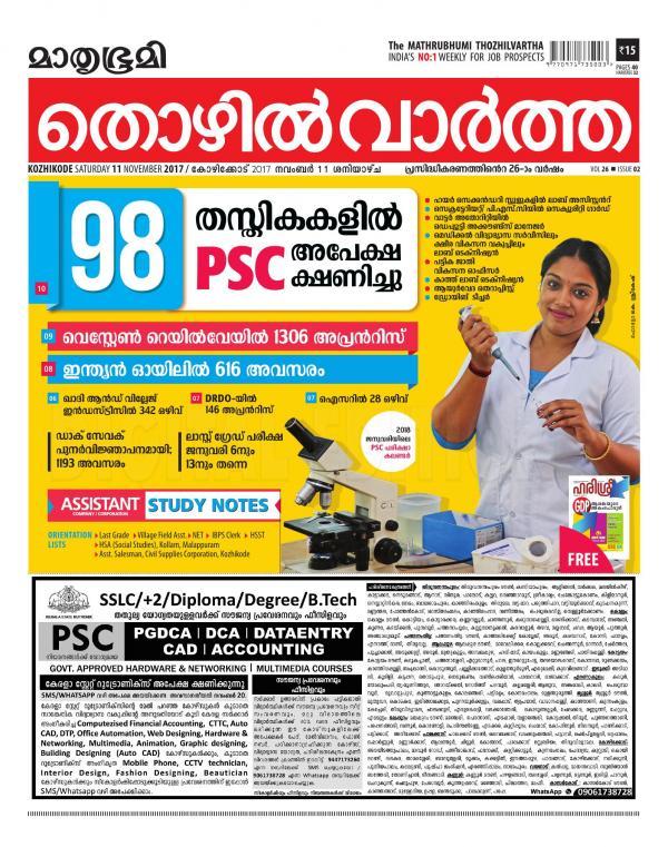 Mathrubhumi Thozhilvartha Pdf Download