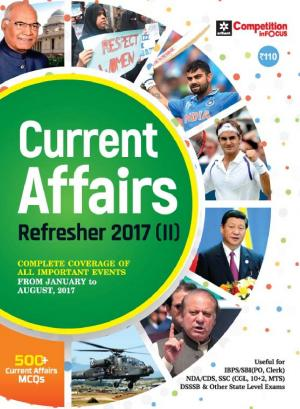 Current Affairs Refresher 2017 (E)