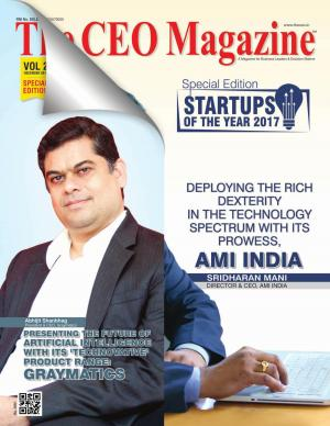 STARTUPS OF THE YEAR 2017, Special Edition