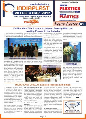 IndiaPlast 2019 Show Daily & News Letter