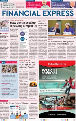 Financial Express Delhi, Mon, 26 Nov 18