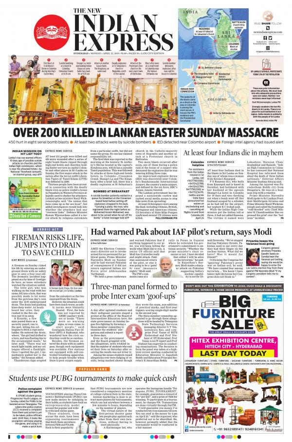 The New Indian Express-Hyderabad e-newspaper in English by