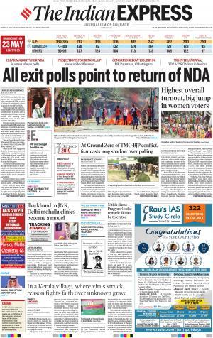 Indian Express Delhi, Mon, 20 May 19