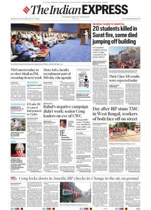 Indian Express Jaipur, Sat, 25 May 19