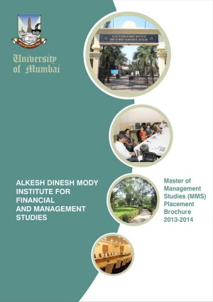 Alkesh Dinesh Mody Institute Placement Brochure 2013-14
