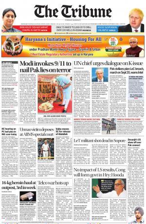 Tribune India The Tribune, Thu, 12 Sep 19