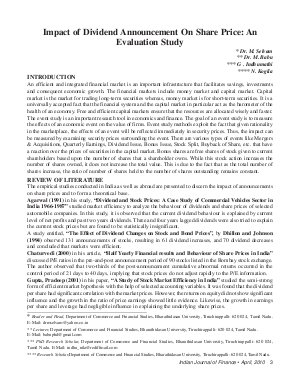 Indian Journal of Finance