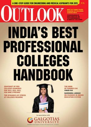 Outlook India Best professional colleges handbook June 2014 - Read on ipad, iphone, smart phone and tablets