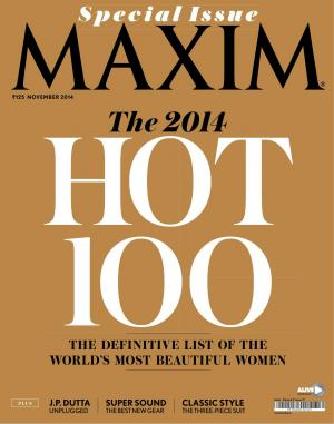 MAXIM INDIA NOVEMBER ISSUE 2014 - Read on ipad, iphone, smart phone and tablets.